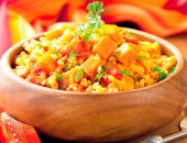 Миниатюра к статье Рис с овощами «Веселое ассорти»