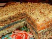 Миниатюра к статье Популярный трехслойный домашний торт