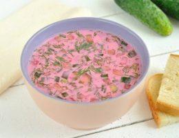 Миниатюра к статье Холодный свекольный суп
