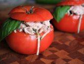 Миниатюра к статье Куриный салат в помидоре