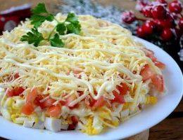 Миниатюра к статье Очень вкусный салатик с крабовыми палочками