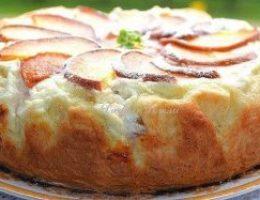 Миниатюра к статье Пирог с творожно — персиковой начинкой